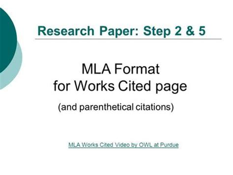 Bibliography for research paper mla